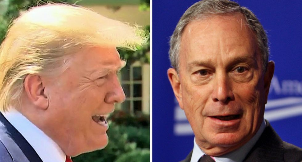 Trump ragetweets at Michael Bloomberg for sinking $100 million into Florida to defeat him