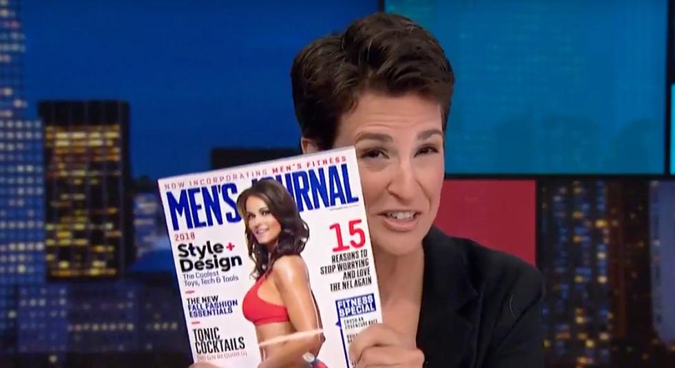 MSNBC's Rachel Maddow explains 'somewhat hilarious' reason why Trump mistress Karen McDougal is on Men's Journal cover