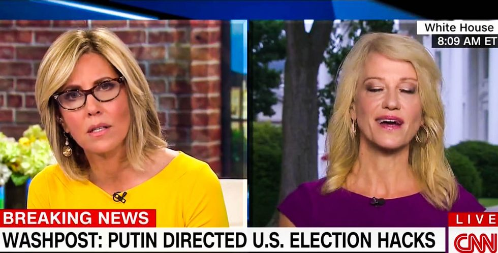WATCH: Kellyanne Conway frantically avoids 'Russia, Russia' questions in tense CNN interview