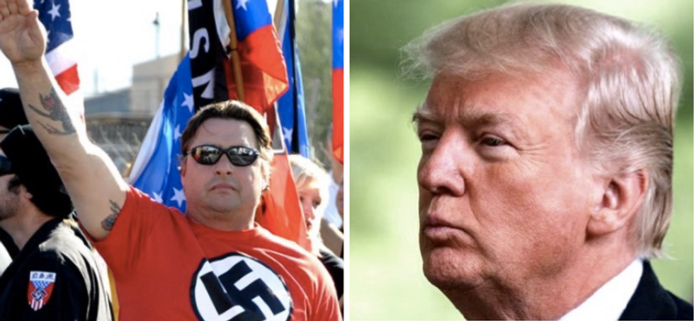 Trump campaign using Nazi prisoner imagery in their latest attack ads on anti-fascist protesters