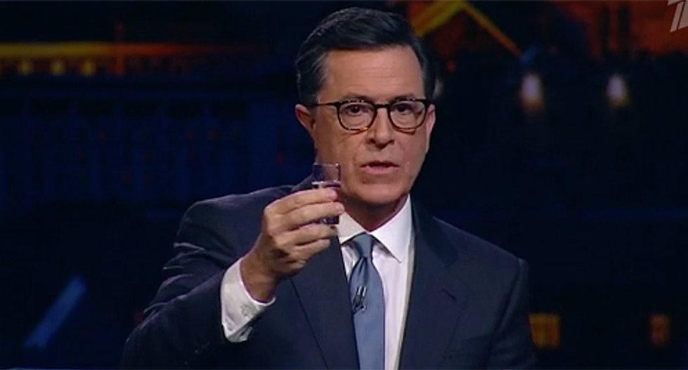 Stephen Colbert travels to Russia to 'cut out the middleman' and formally announces he will challenge Trump in 2020