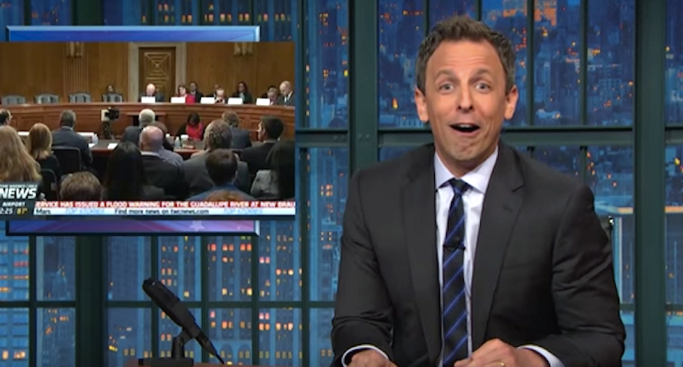 Seth Meyers: GOP lawmakers 'act like dicks just to see what sort of lame sh*t Democrats will pull'