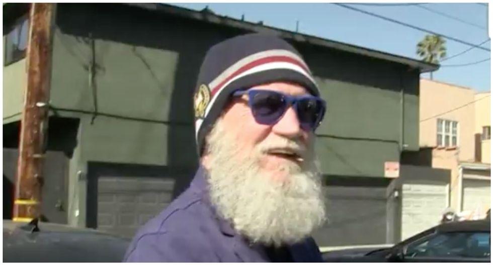 David Letterman jokes 'enormous fellow' Donald Trump can 'eat the restaurant empty'