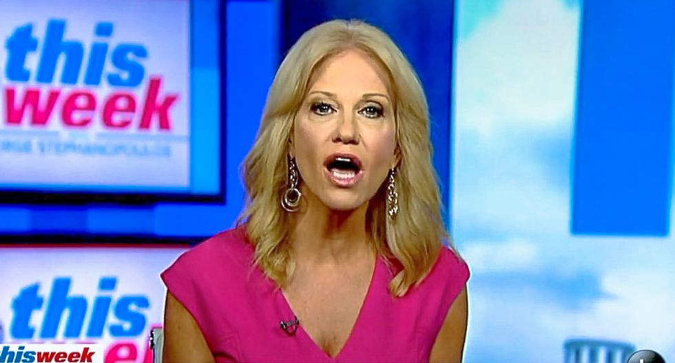 Kellyanne Conway melts down when she's asked to name one black senior adviser in Trump's West Wing