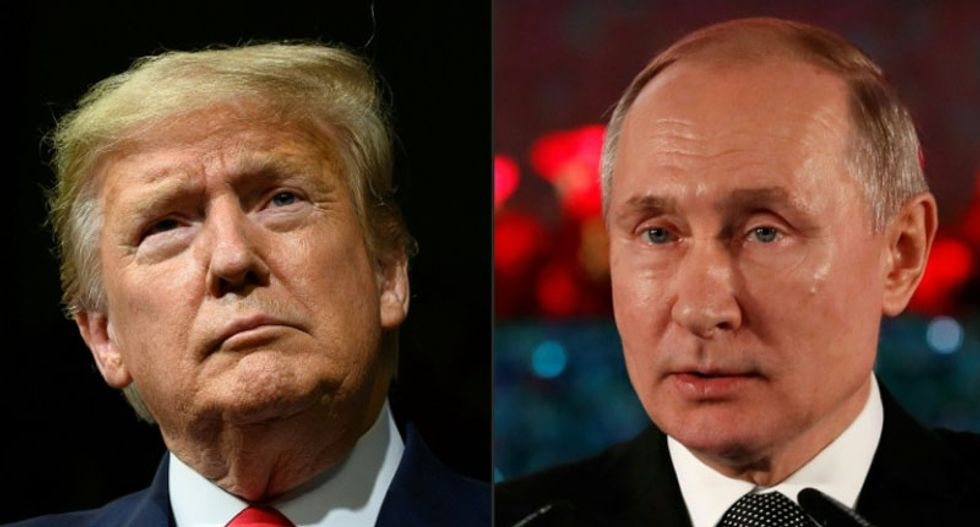 'Hoax number 7!' Irritated Trump sends out angry denials as new Russian meddling charges hit 2020 election