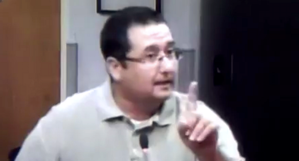 WATCH: Florida school board candidate carried out of LGBT meeting after insane 'erect penis' rant