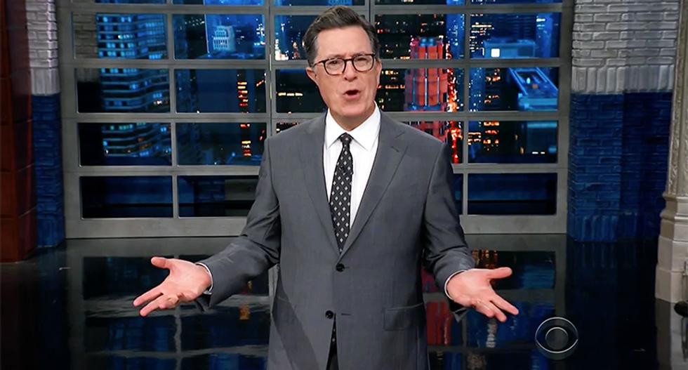 Stephen Colbert rips 'idiot' GOP senator for defending Trump's unconstitutional self-dealing