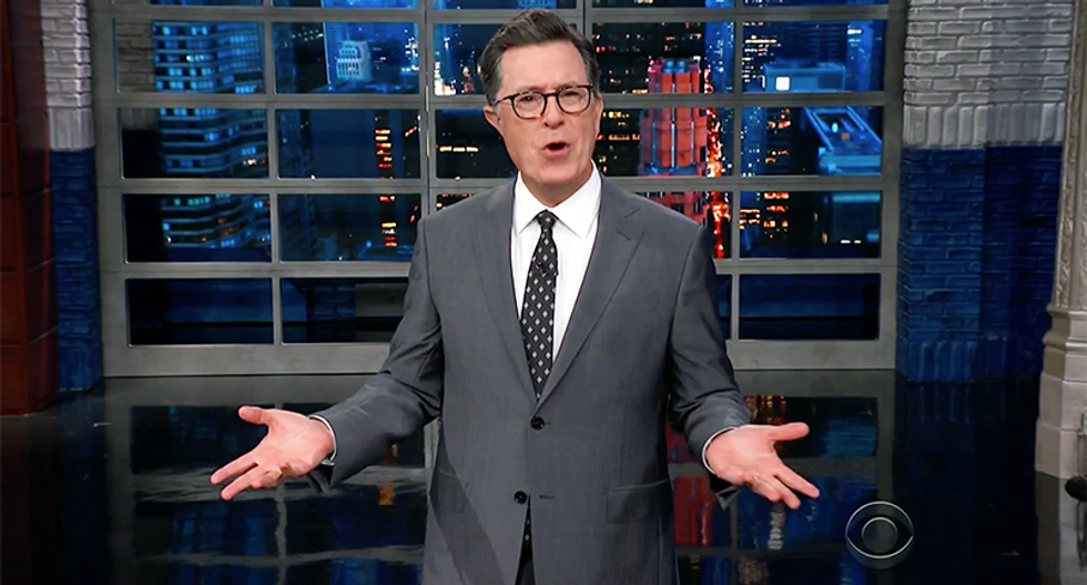 Watch: Colbert mocks Brett Kavanaugh's 'well-coiffed head of steam' after 'nonconsensual act of Borking'
