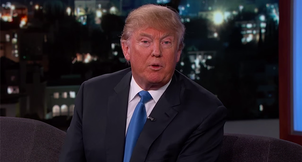 Jimmy Kimmel corners Trump on his Clinton flip-flops: 'So, you were full of sh*t when you said that?'