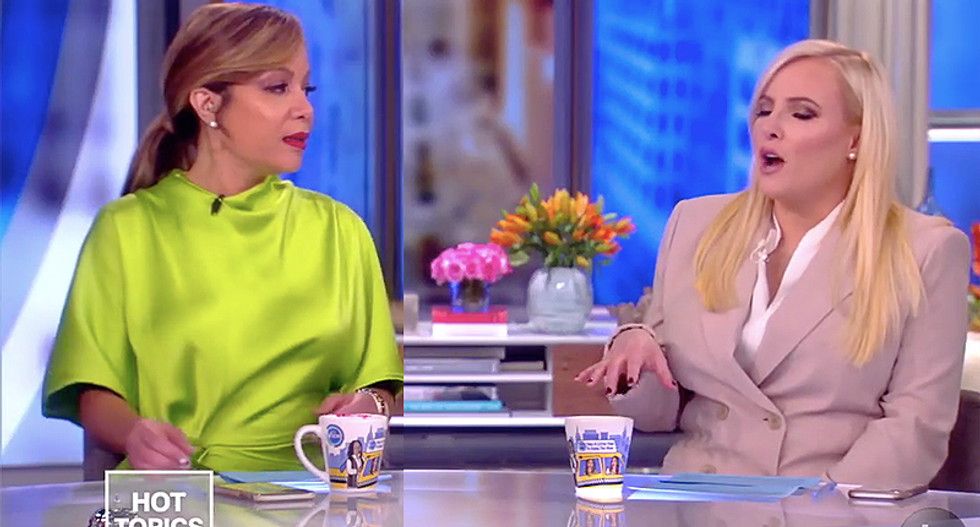 The View's Meghan McCain attacks co-hosts for not talking about Bernie Sanders and Russia -- when reports weren't even out