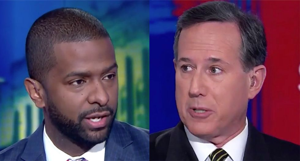 CNN's Bakari Sellers schools Rick Santorum over claim Trump is not part of the 'extreme hard right'