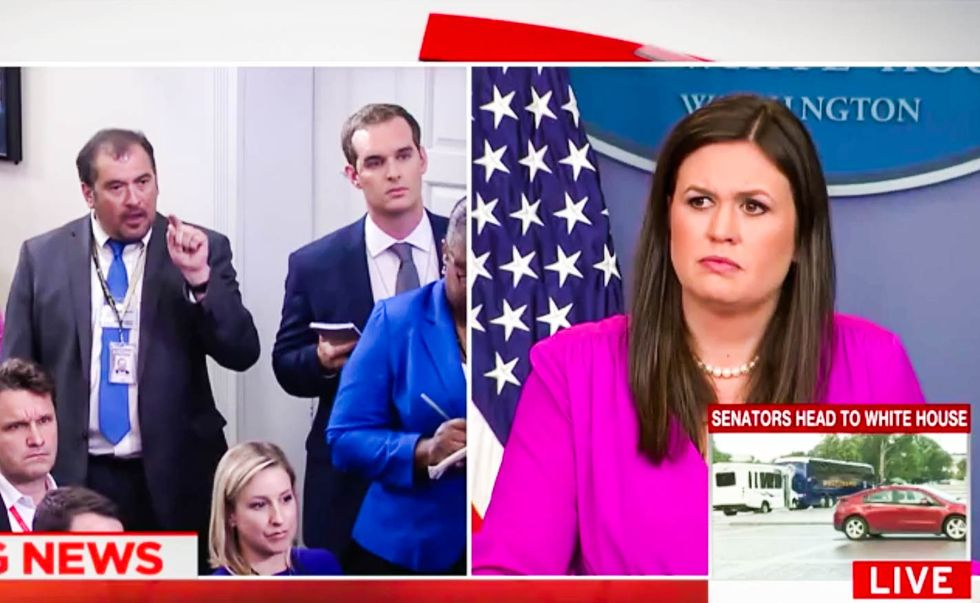 WATCH: Reporter chews out Sarah Huckabee Sanders for trying to spin bad news as 'fake'
