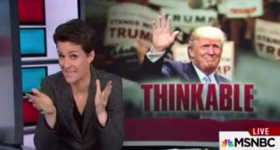 Maddow: Debating Sanders is 'a hat trick, grand slam and slam dunk' all at once for Trump