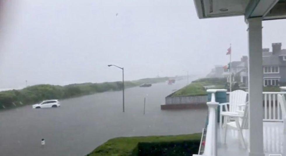 Evacuations, rescues as 'historic' floods hit northeastern US