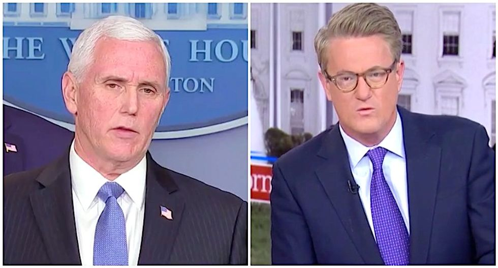 MSNBC's Morning Joe bashes Mike Pence for sucking up to Trump during coronavirus briefing