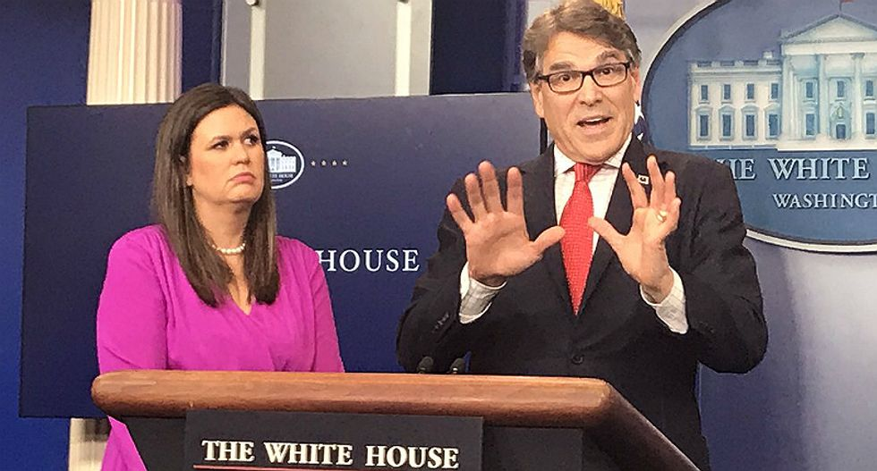 'Holy sh*t, Rick Perry is insane': The Internet gobsmacked by energy secretary's press conference
