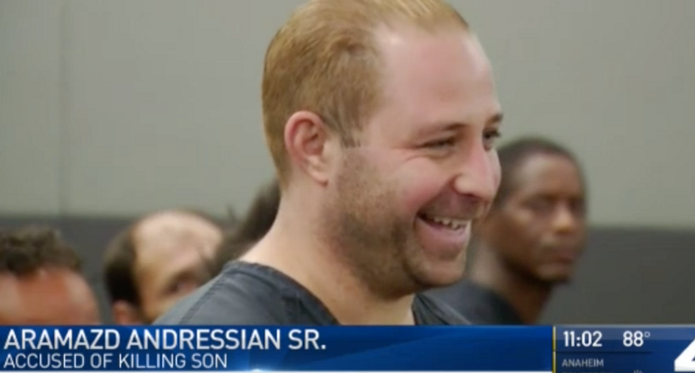 WATCH: California man accused of murdering 5-year-old son laughs and jokes in court