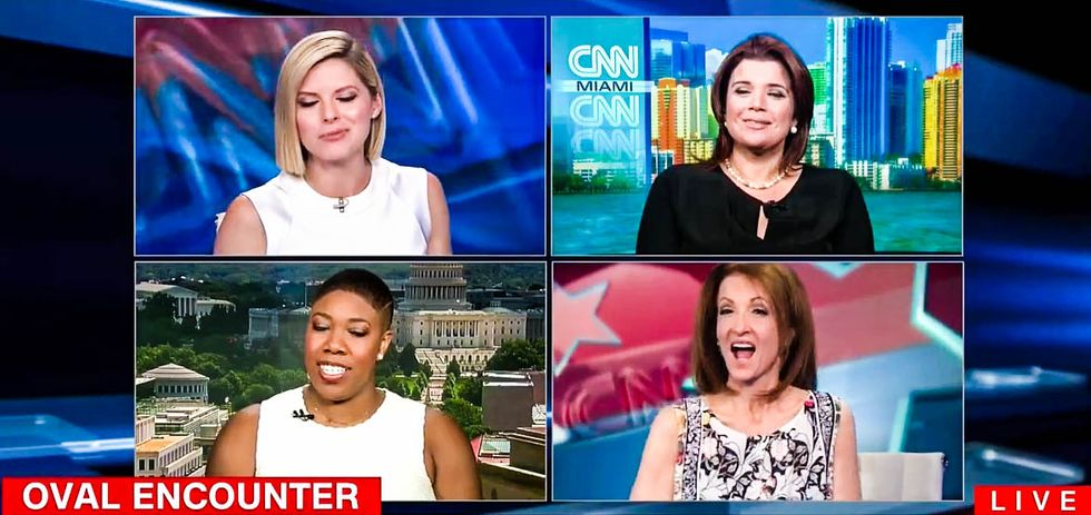 'The president grabbed vaginas!' CNN panel on Trump's ogling of woman reporter goes off the rails