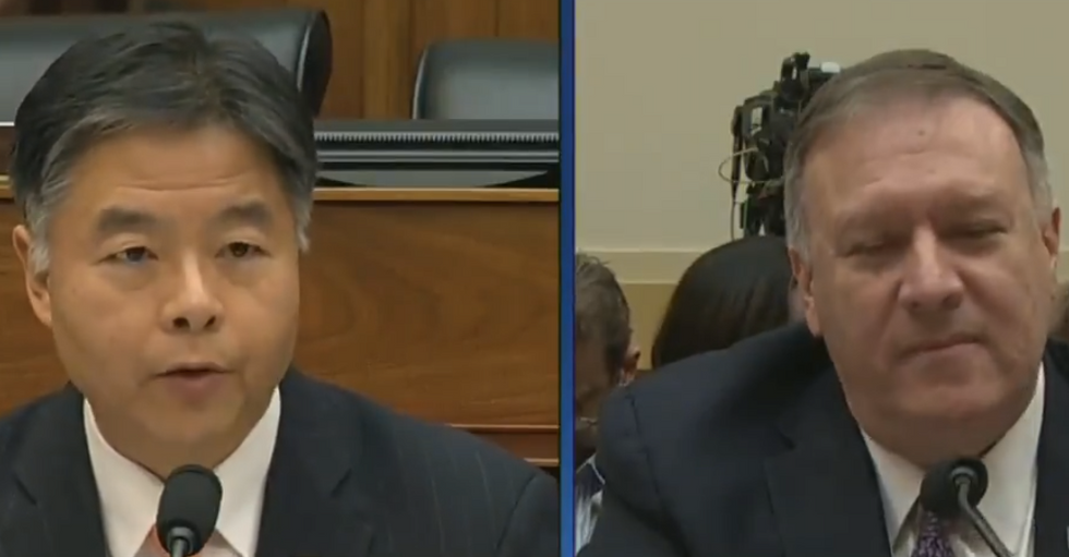 Pompeo smacked down hard by Ted Lieu for ducking out on coronavirus questions so he could speak at CPAC
