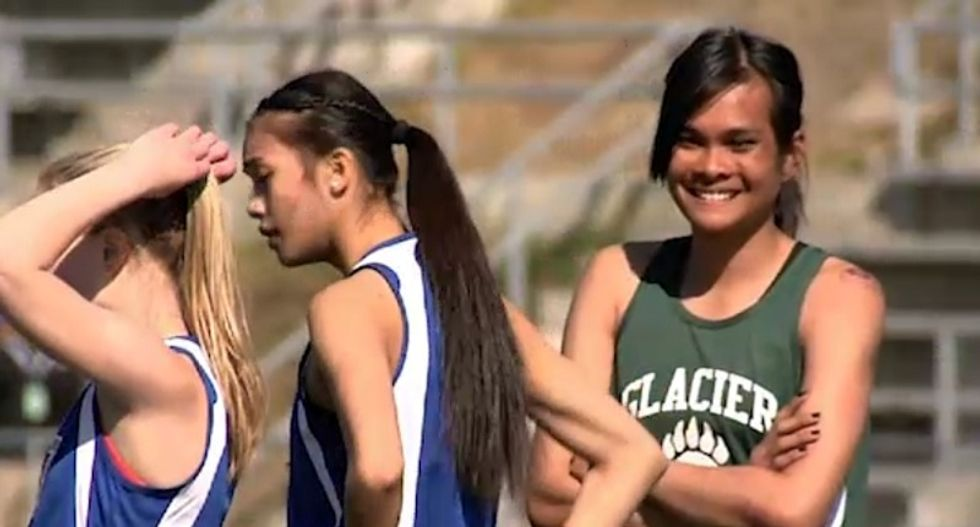 Transgender student races in girls' track in spite of criticism from anti-trans bigots