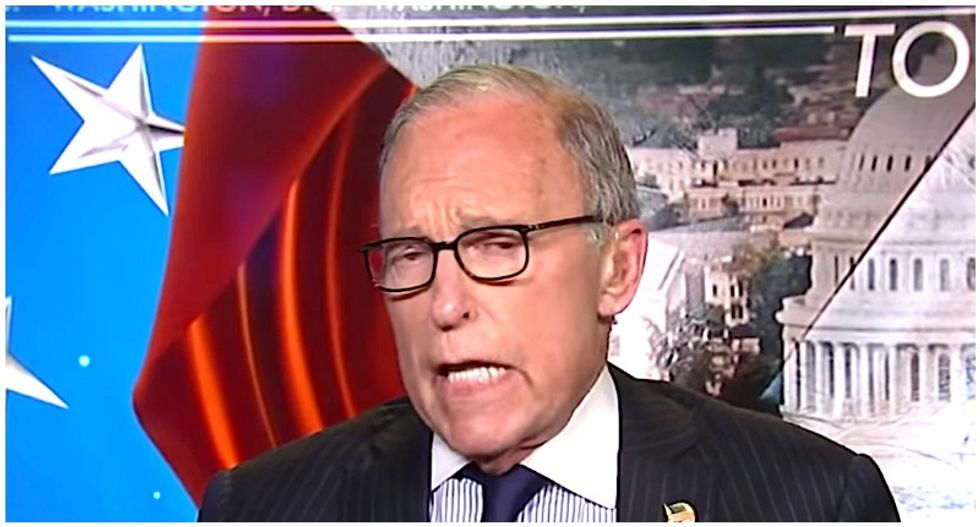Larry Kudlow's attempt to prevent coronavirus panic backfires: 'Like asking an arsonist to put out a fire'