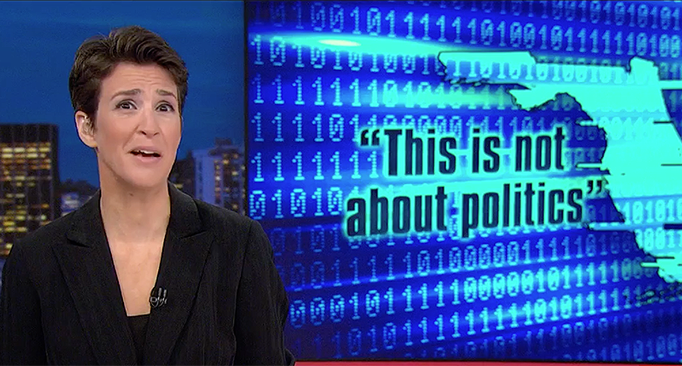 MSNBC's Rachel Maddow blasts Florida's 'impotence' in fighting election hacking after Homeland Security blows them off