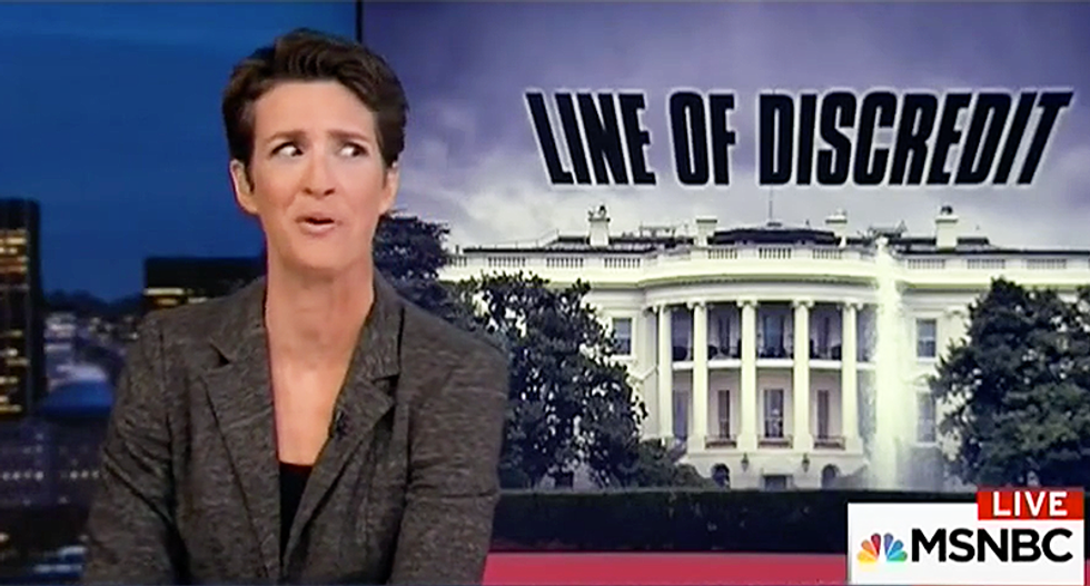 'Heads up': Maddow explains exactly why the Senate GOP wants to halt the Russia probe 'in its tracks'