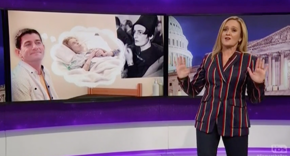 WATCH: Sam Bee brutalizes Paul Ryan for 'jerking it to poor people losing healthcare to pay for tax cuts'