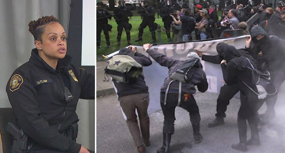 Portland police chief brags to right-wing radio host that cops 'kicked the butts' of anti-racist protesters