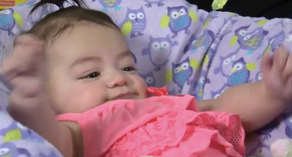 Infant overcomes seizures after becoming youngest patient to take cannabis oil
