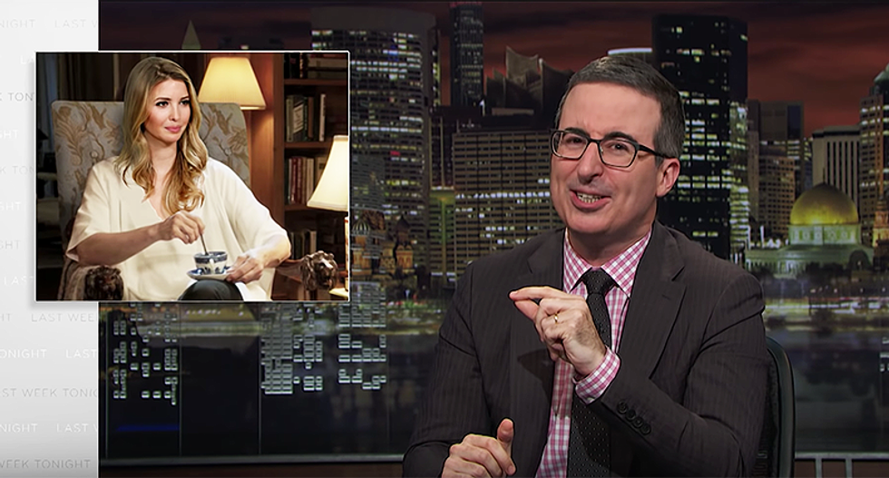 John Oliver captures Ivanka Trump as the mother in the horror movie 'Get Out'