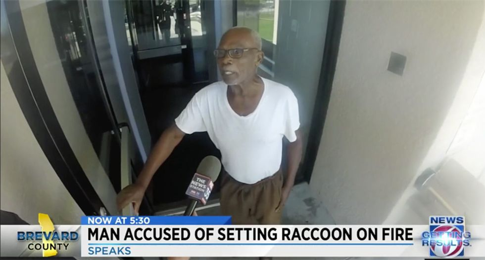 'My business is my business': Florida man lashes out at neighbor who called police on him for burning raccoon alive