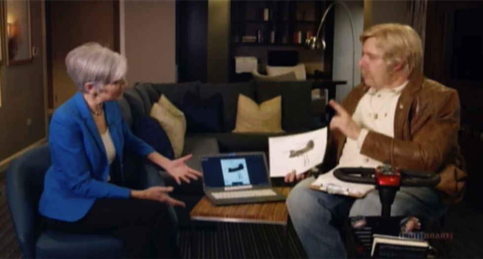 Jill Stein tells Sacha Baron Cohen's right-wing character she's a scientist 3 times debating a CIA plot to create climate change