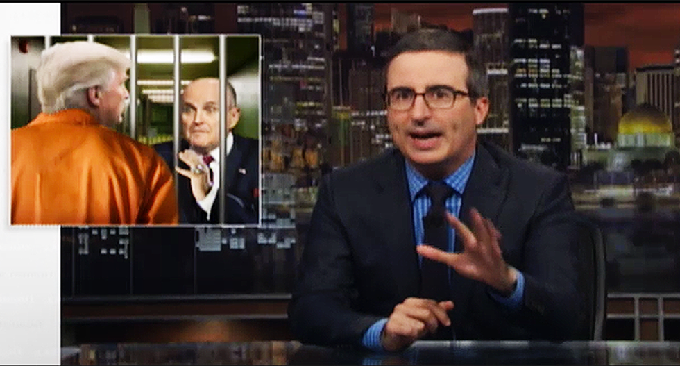 'Don't worry, Donald, prison isn't prison': John Oliver ridicules Rudy Giuliani's 'truth isn't truth' gaffe