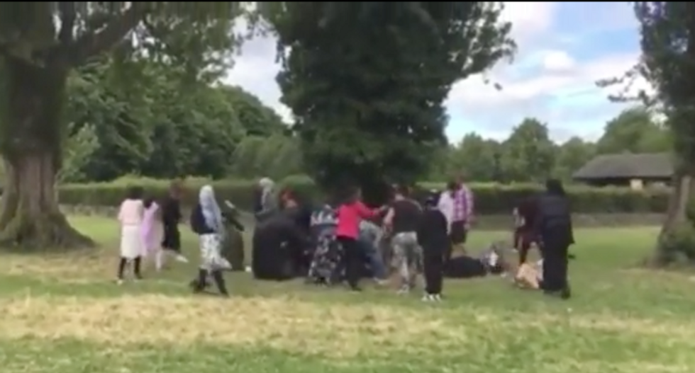 WATCH: Racist mob attacks Muslim women and children at Ramadan celebration in park