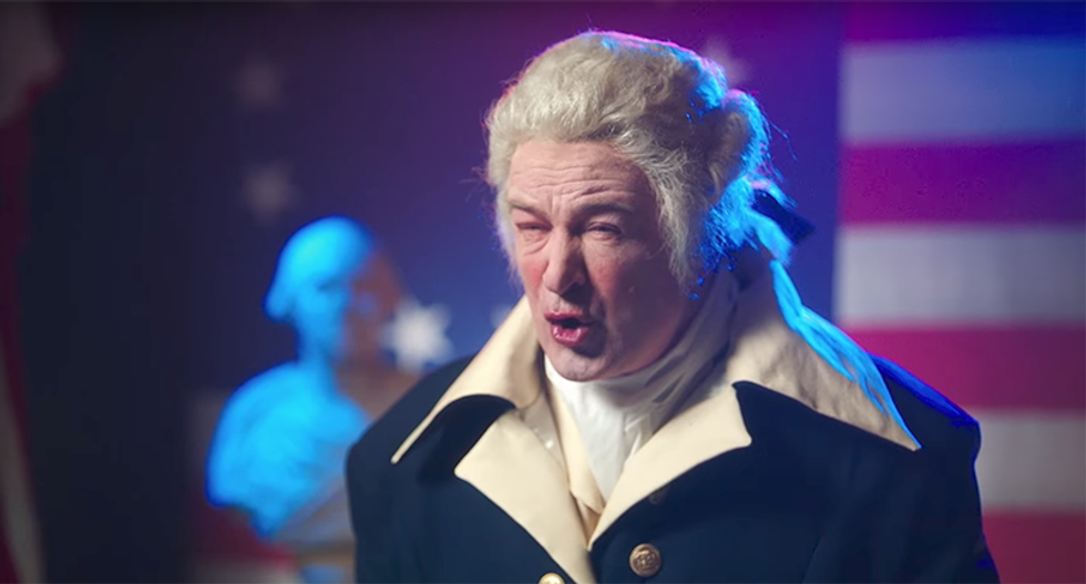 WATCH: Alec Baldwin channels his inner George Washington — with only a dash of Donald Trump