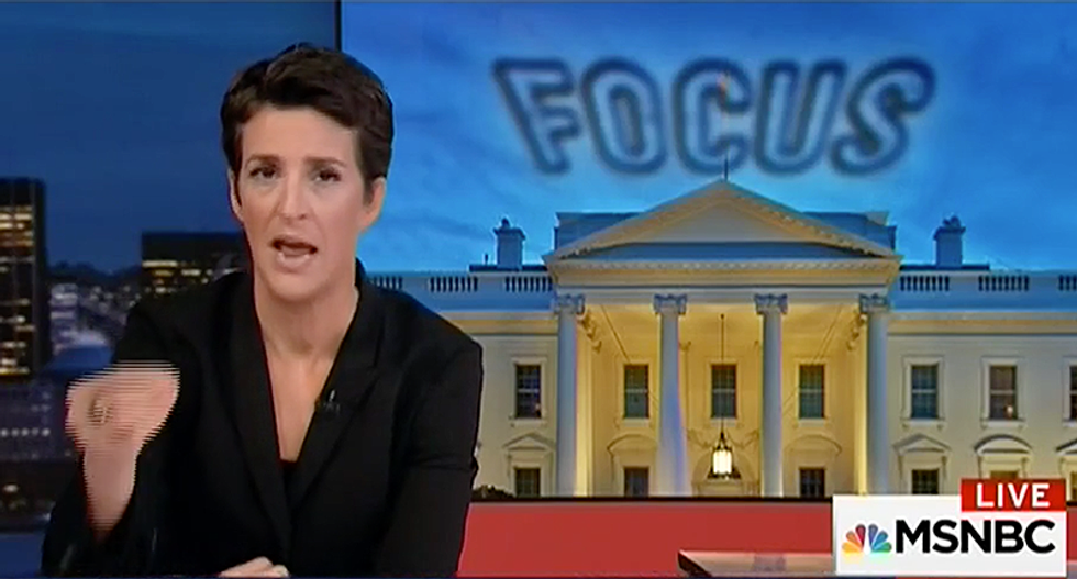 Don't let Trump 'yank your chain': Maddow hammers Trump for 'repulsive' and distracting tweets
