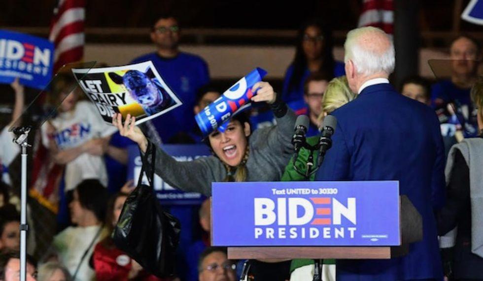 Jill is 'my Secret Service' Biden jokes after wife tackles protestors