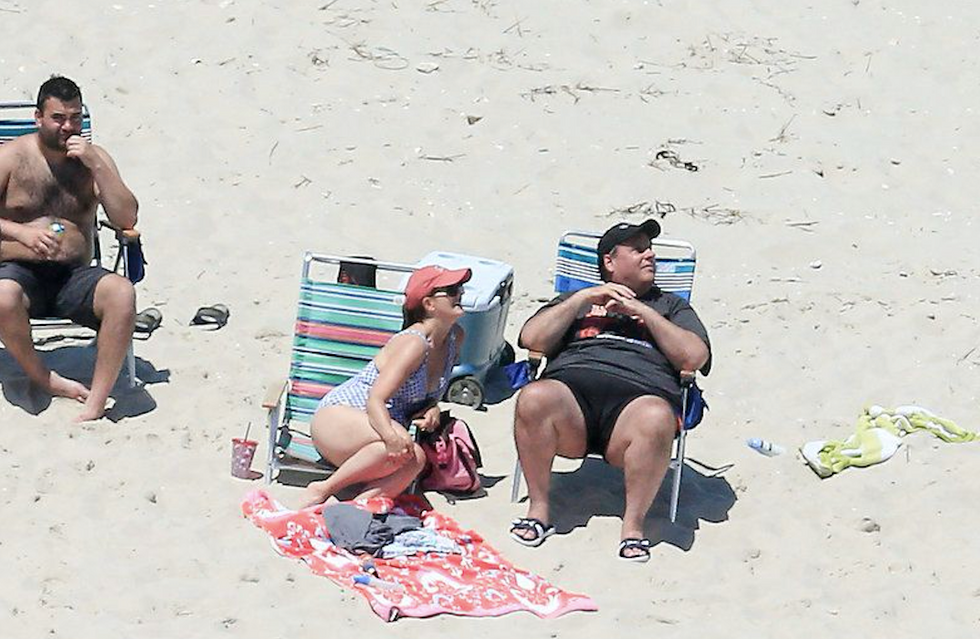 BUSTED: Chris Christie's family caught hogging shutdown-shuttered state park beach all to themselves