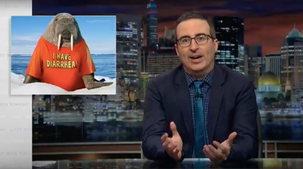 John Oliver explains why Trump is like a walrus wearing a T-shirt that says: 'I have diarrhea'