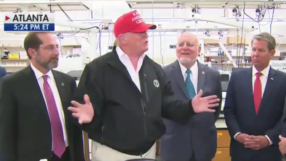 Here are 7 ridiculous and disturbing moments from Trump's visit to the CDC