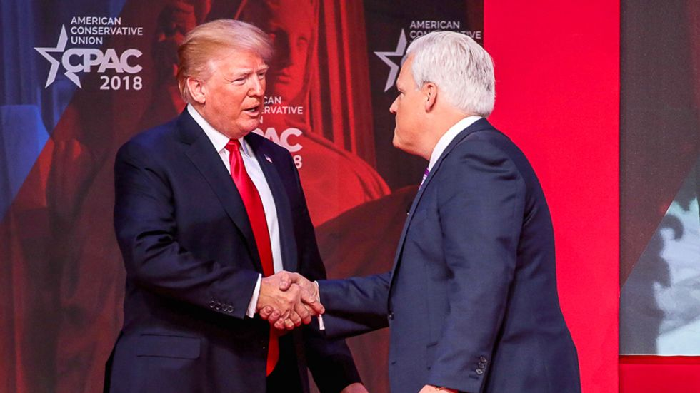 CPAC founder who touched both Trump and virus patient insists president 'scrubbed' hands at event