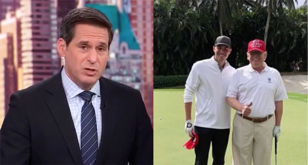 Trump hammered by CNN hosts for golfing and posing for pics as government reels from coronavirus pandemic