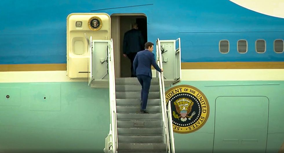 Florida Rep. Matt Gaetz spotted on Air Force One with Trump hours before self-quarantining over COVID-19 fears