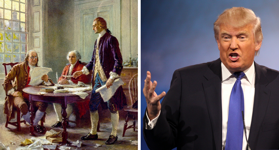 'Calling for a revolution!': Trump fans 'triggered' after NPR tweets out the Declaration of Independence