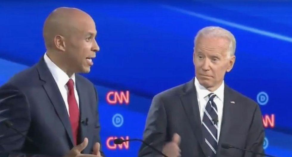 Cory Booker backs Joe Biden