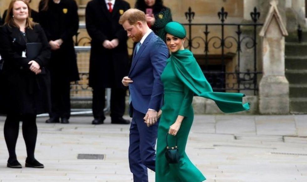 Harry and Meghan wave royal goodbye