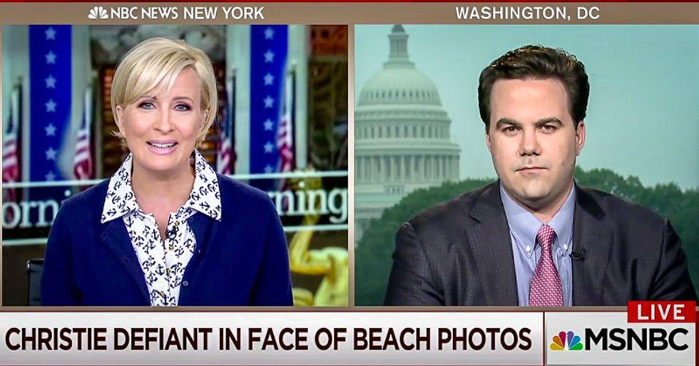 'That's not defiance -- that's arrogance': Mika Brzezinski shreds beach-goer Chris Christie's tough guy act