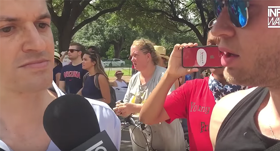 WATCH: InfoWars shouter tries to ambush progressive Texas candidate – and goes down in flames