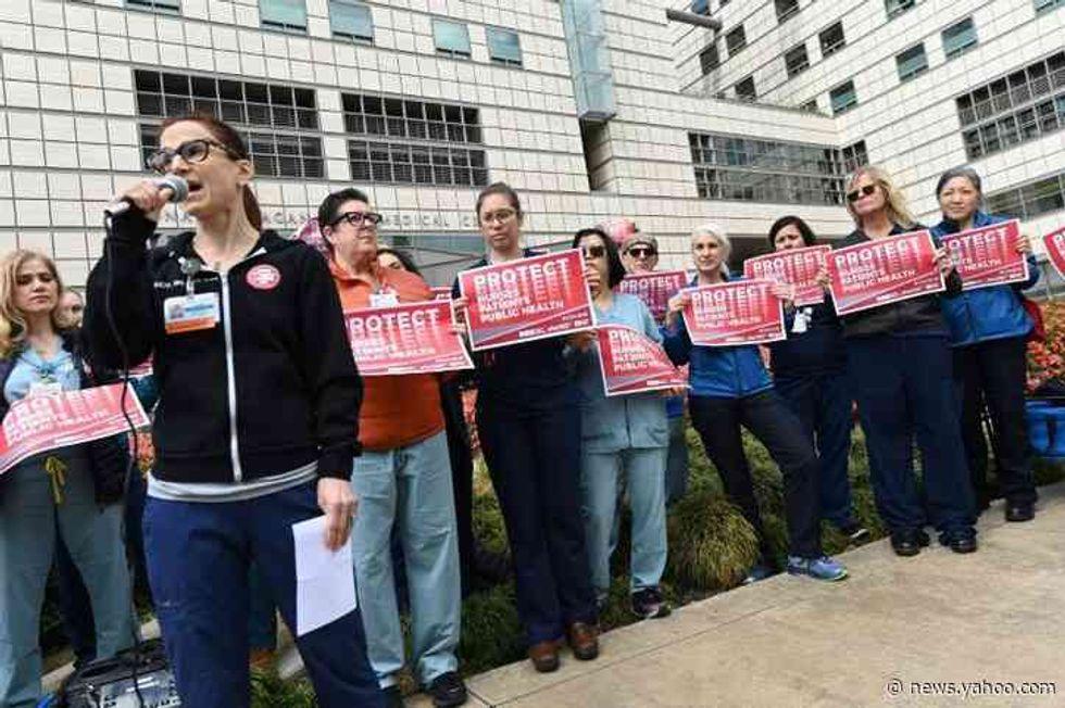 'Keep us safe!' US nurses hold protests over coronavirus failings